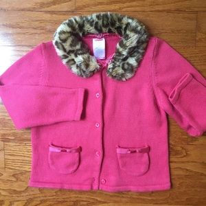 Girls Gymboree size 3T leopard collar  sweater